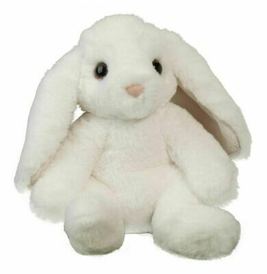Bocci - White Sitting Bunny - 9 inches tall  - Douglas Plush