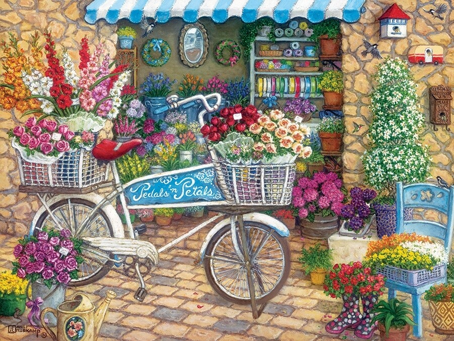 Pedals 'N' Petals - Easy Handling - 275 piece Cobble Hill Puzzle