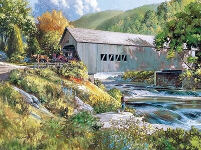 Covered Bridge - Easy Handling - 275 Piece Cobble Hill Puzzle