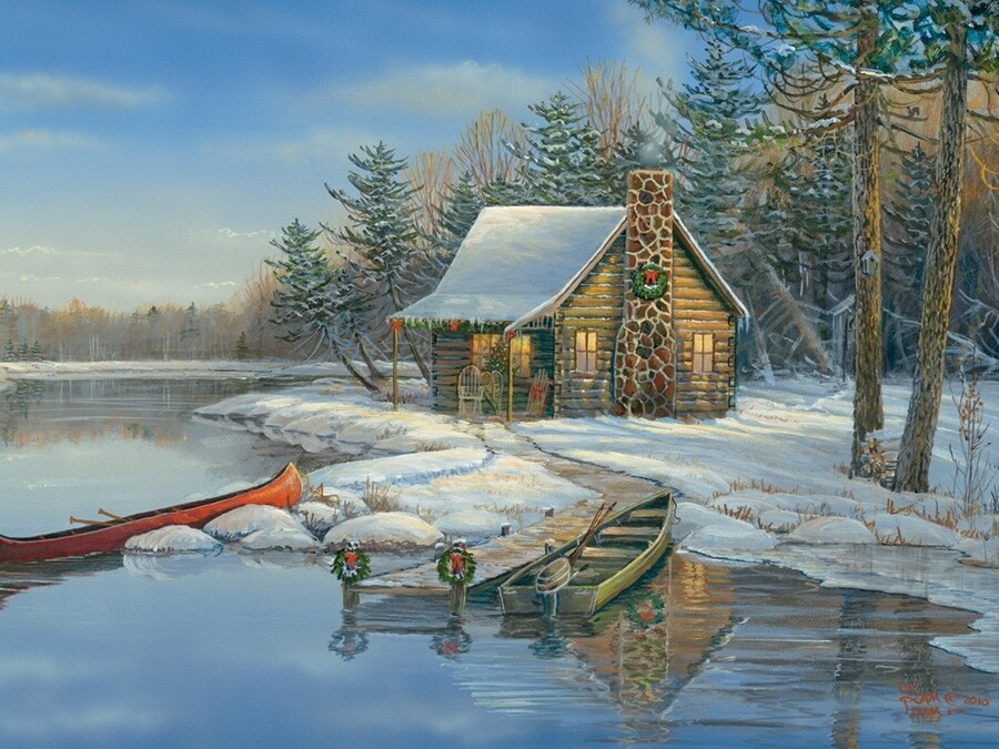 Winter Cabin - Easy Handling - 275 Piece Cobble Hill Puzzle