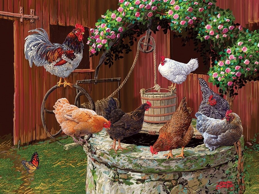 The Chickens are Well - Easy Handling - 275 piece Cobble Hill Puzzle