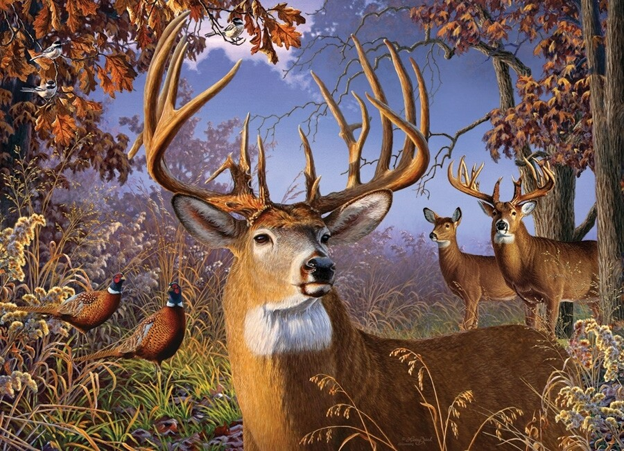Deer and Pheasant - 500 Piece Cobble Hill Puzzle