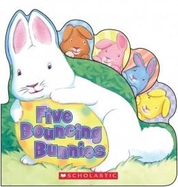 Five Bouncing Bunnies - Shaped Board Book