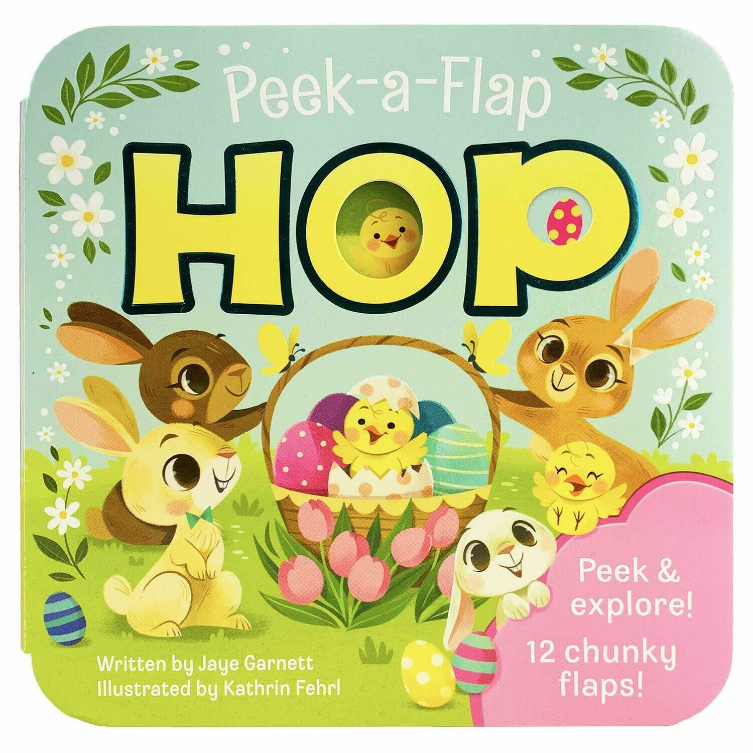 HOP - Peek a Flap Board Book. - super chunky double flaps