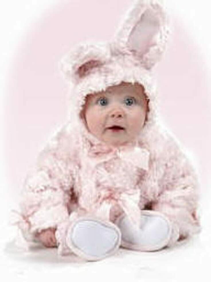 Cottontail Coat - Pink Bunny - 6 - 12 month size - Bearington Baby
