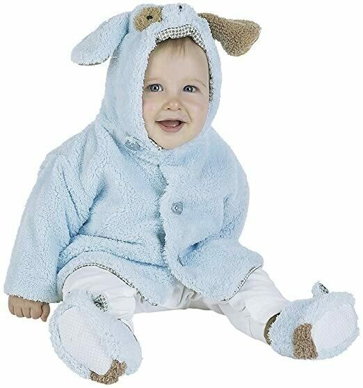 Waggles Coat - Blue Puppy Dog Coat - 6 - 12 month size - Bearington Baby