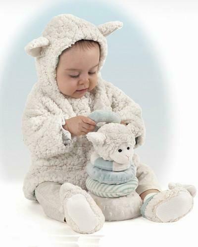 Lamby Coat - Cream - 6 - 12 month size - Bearington Baby