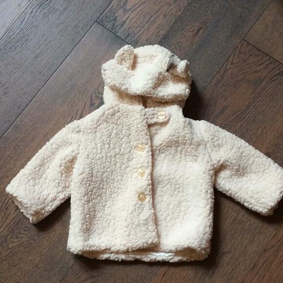 Lamby Coat - Cream - 12 - 24 month size - Bearington Baby