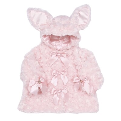 Cottontail Coat - Pink Bunny - 12 - 24 month size - Bearington Baby
