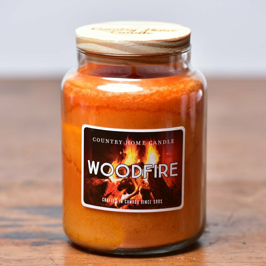 Woodfire - Large Jar - Country Home Candle