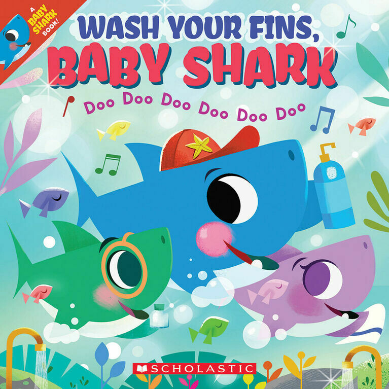 Wash Your Fins Baby Shark - Paperback Book