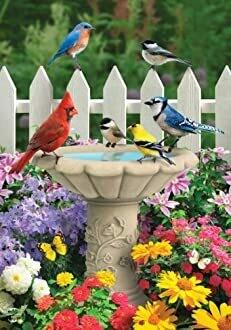 "Spring Garden Friends - House Flag - 28"" x 40"""