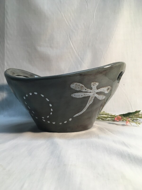 Coupe Bowl with Handles - Dragonfly - Canadian Handmade by Ed Lucier
