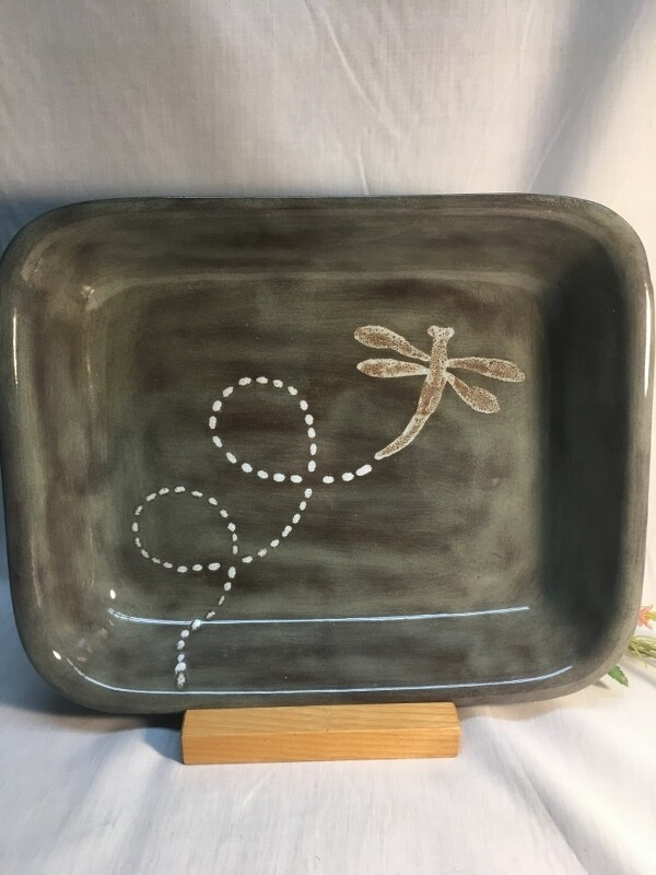 Baking Pan / Open Baker - Dragonfly - Canadian Handmade by Ed Lucier