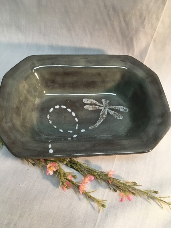 Octagon Bowl / Platter - Small - Dragonfly Canadian Handmade by Ed Lucier