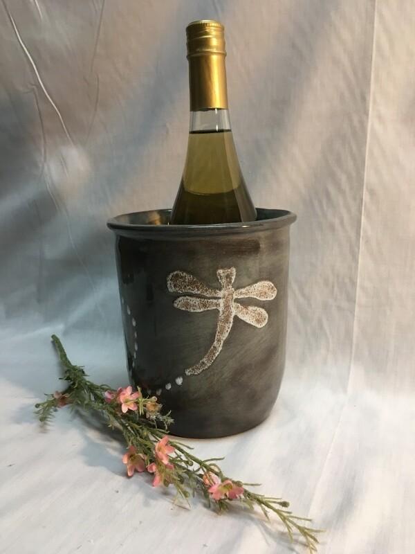 Utensil Holder / Wine Chiller - Dragonfly - Canadian Handmade by Ed Lucier