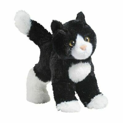 Snippy - Black and White Cat - 7 inch - Douglas Plush