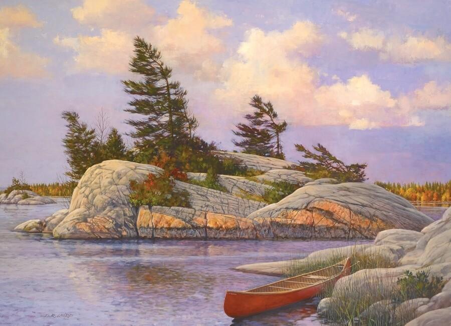 Red Canoe - 1000 Piece Cobble Hill Puzzle - Douglas Laird