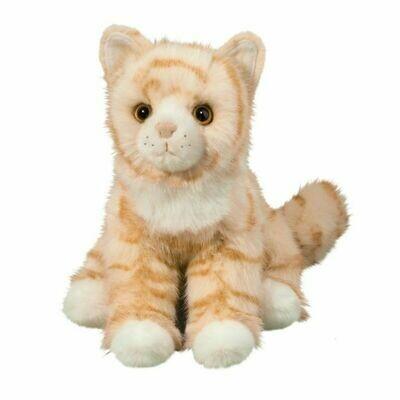 Adele - Yellow Striped Cat - 12 inch - Douglas Plush