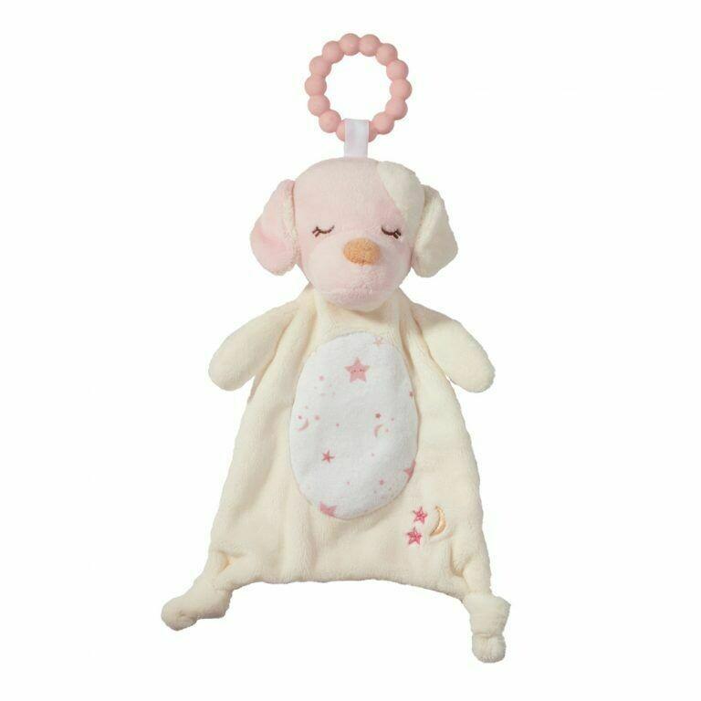 Rosy Cream Puppy - Teether Blanket - Lil' Sshlumpie - 13 inch - Douglas Baby