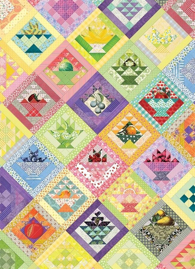 Fruit Basket Quilt - 1000 Piece Cobble Hill Puzzle