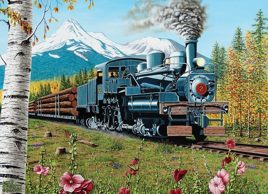 Lumbering Along - 1000 Piece Cobble Hill Puzzle