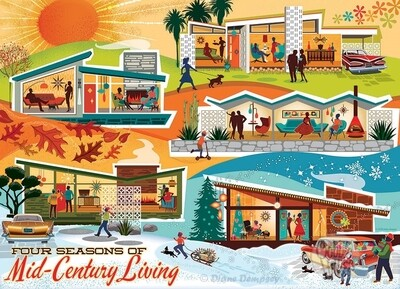 Four Seasons of Mid-Century Living - 500 Piece Cobble Hill Puzzle