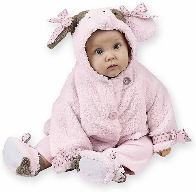 Wiggles Coat - Pink Puppy Dog Coat - 6-12 month size - Bearington Baby