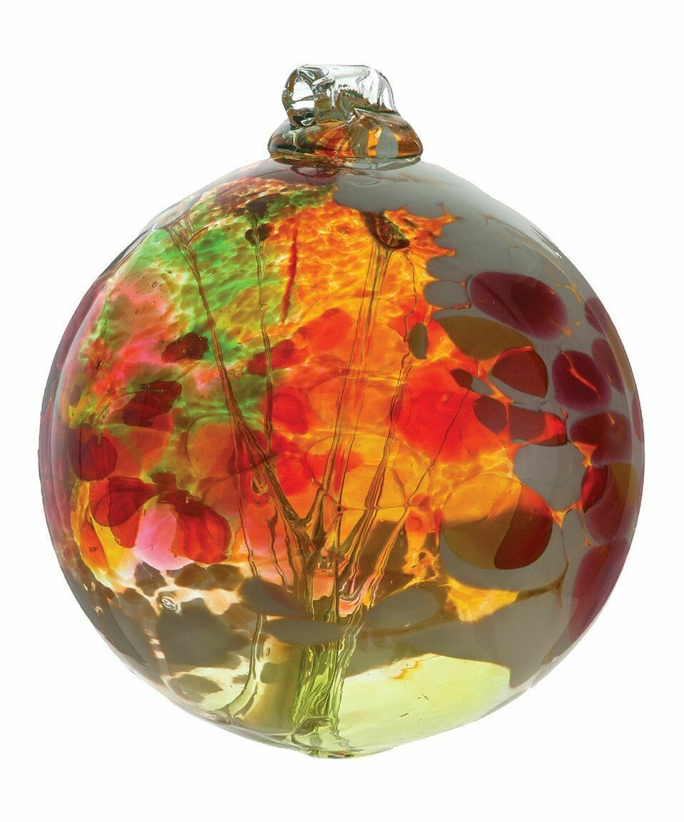 "3"" Fairy Orb Friendship Ball - Fern Fairy - Canadian Blown Glass"
