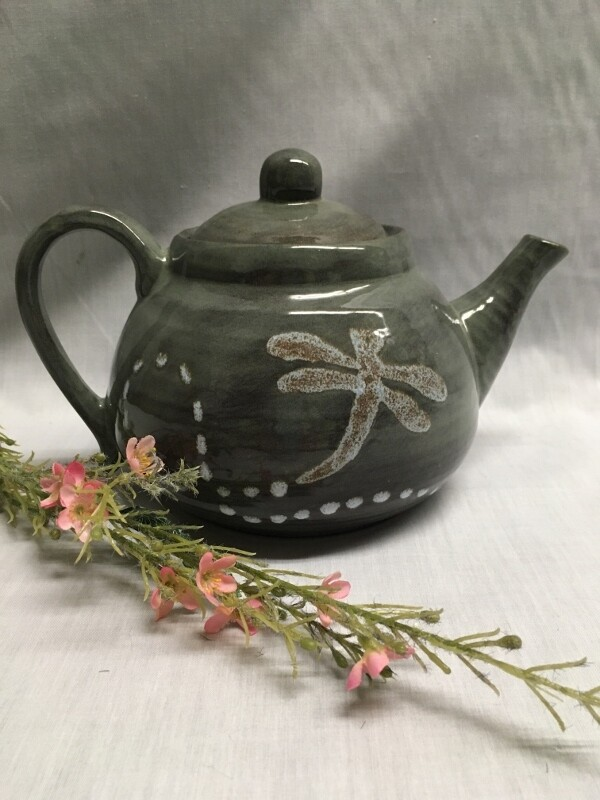 Teapot - Dragonfly - Canadian Handmade by Ed Lucier