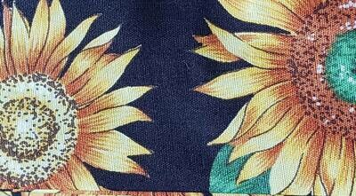 Heat Guard Cooling Tie - Sunflowers -  Handmade in Canada