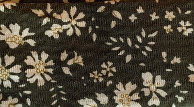 Heat Guard Cooling Tie - Olive Flower-  Handmade in Canada
