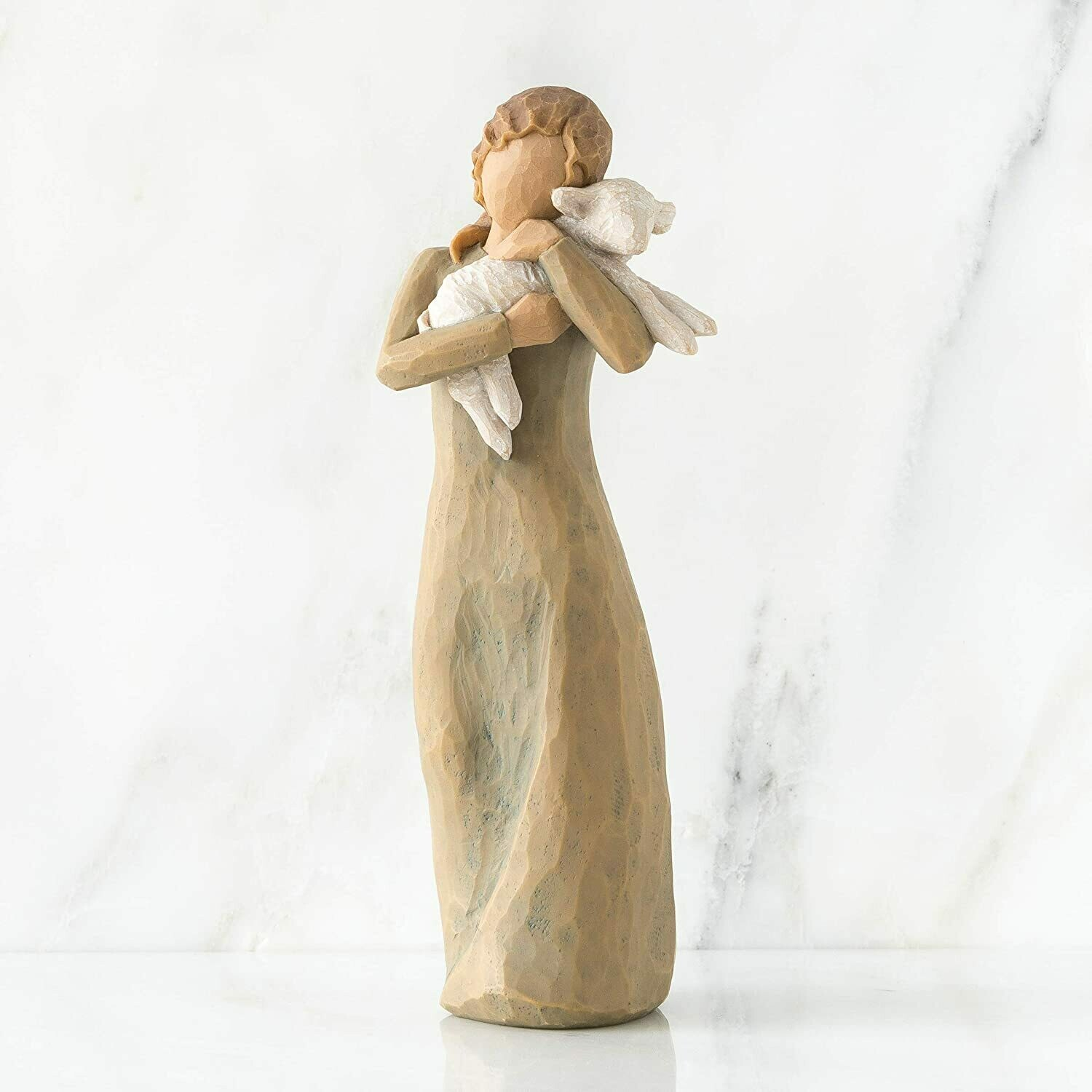 Willow Tree: Nativity Collection - Peace on Earth - Shepherdess with lamb in her arms.