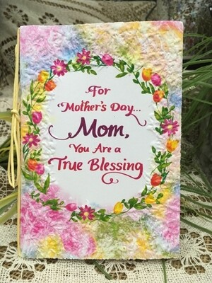 Mother's Day - For Mother's Day, Mom You are a True Blessing - Raffia Bow and handmade paper card - Blue Mountain Arts