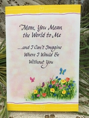 Mother's Day -  Mom you mean the World to Me.... - Tri-fold - Blue Mountain Arts