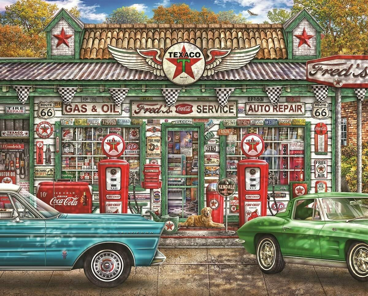 Fred's Service Station - 1000 Piece Springbok Puzzle