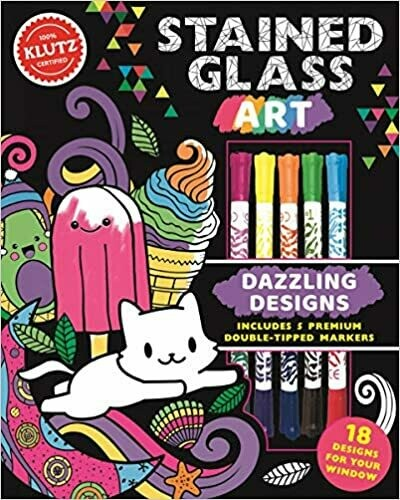 Klutz - Stained Glass Art - Craft Book - Contains everything you need