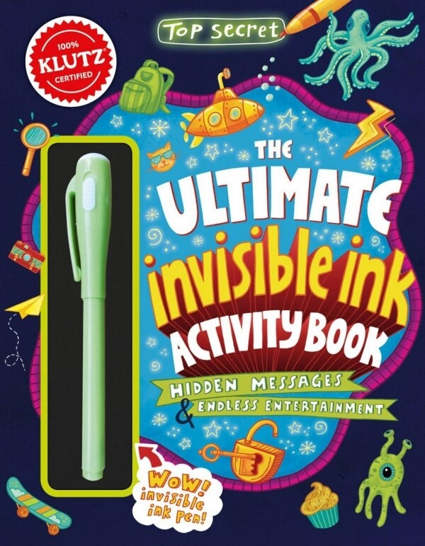 Klutz - Ultimate Invisible Ink Activity Book - contains invisible ink pen