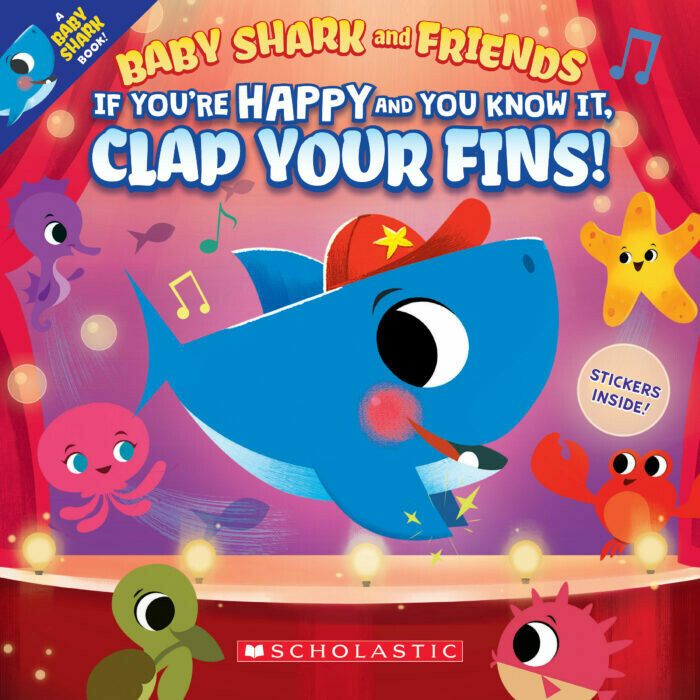 Clap Your Fins Baby Shark - Doo doo - Paperback - with stickers