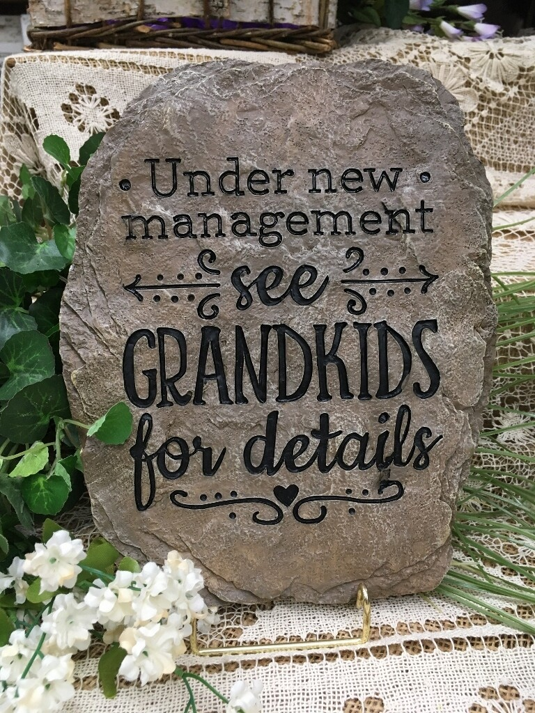 Garden Stepping Stone - Under new management.... See Grandkids for details - 11.5 x 8.5 inches