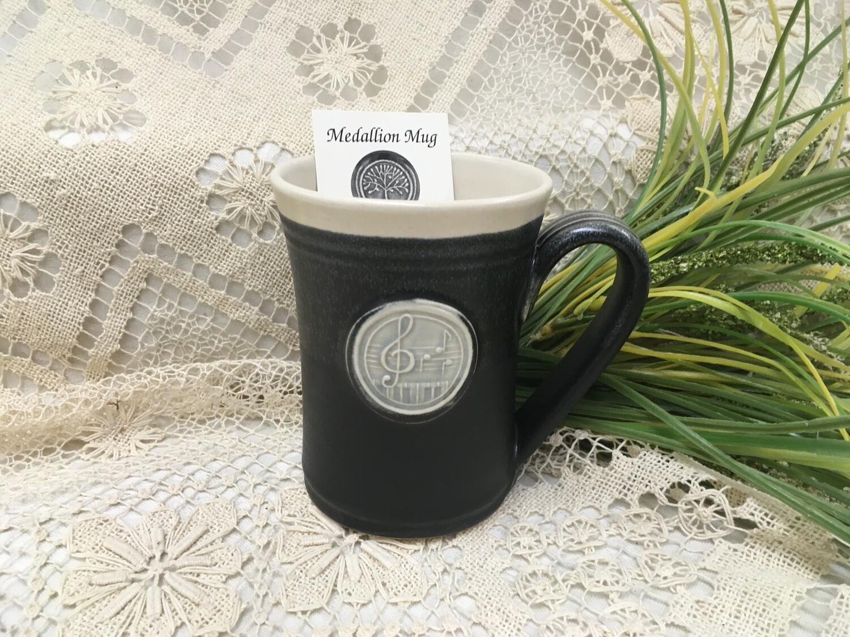 Medallion Large Mug, Music - Pavlo Pottery - Canadian Handmade