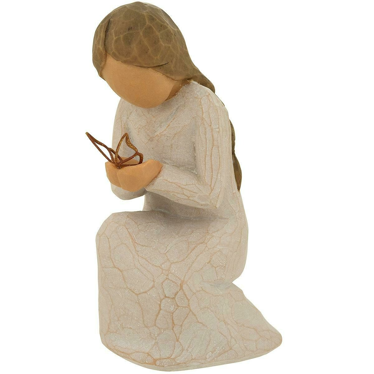 Willow Tree: Quiet Wonder, young girl kneeling with butterfly