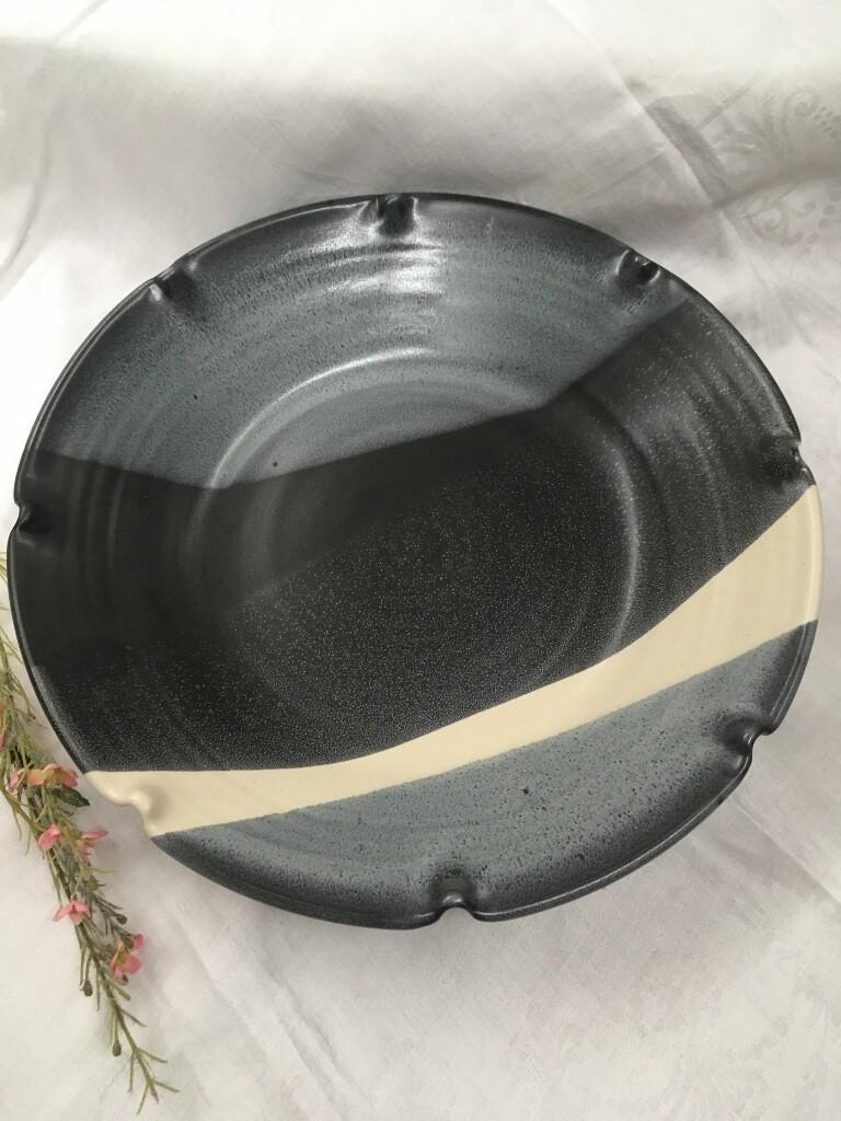 Pasta Bowl Large, Black & White - Pavlo Pottery - Canadian Handmade