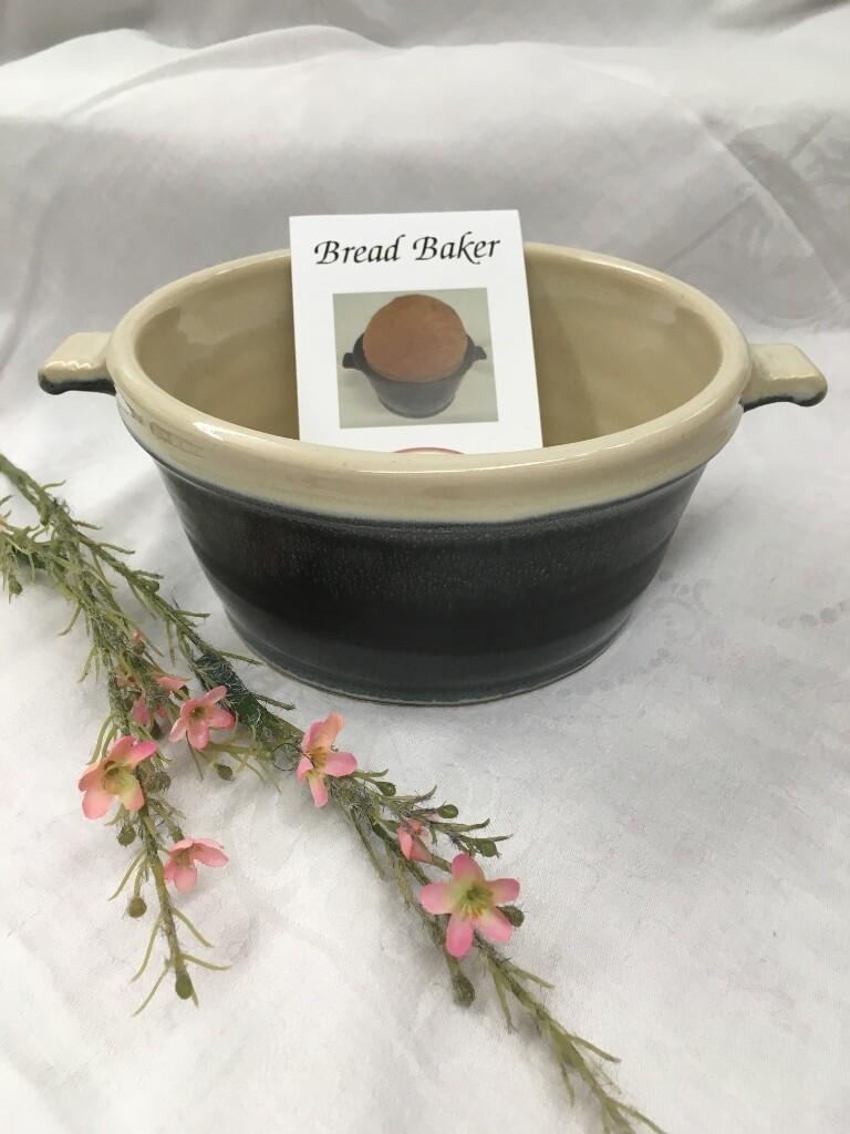 Bread Baker Bowl, Black & White - Pavlo Pottery - Canadian Handmade