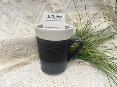 Milk Jug, Black & White - Pavlo Pottery - Canadian Handmade