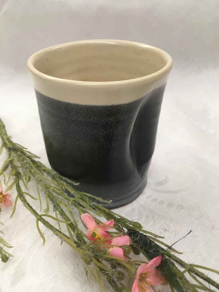 Garden Wine Cup, Black & White - Pavlo Pottery - Canadian Handmade