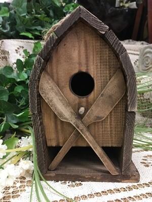 Birdhouse - Canoe Paddles - 8 x 5.5 inches - Wood with Canoe shape with paddles