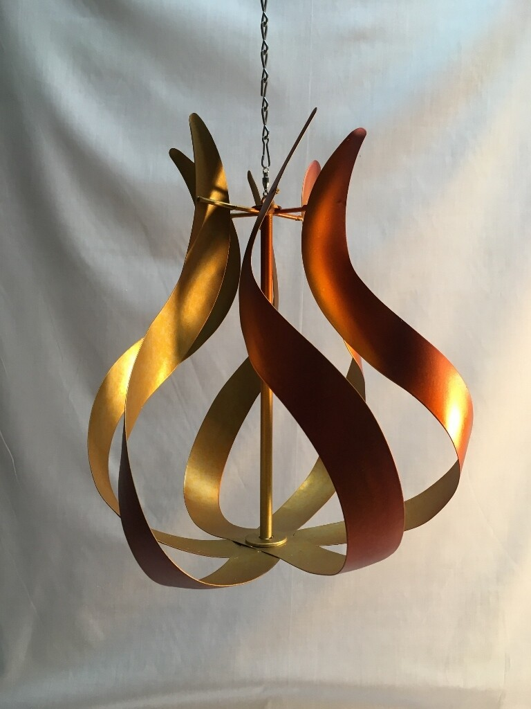 Wind Spinner - Copper Flame - Hanging  - 12 x 11inches