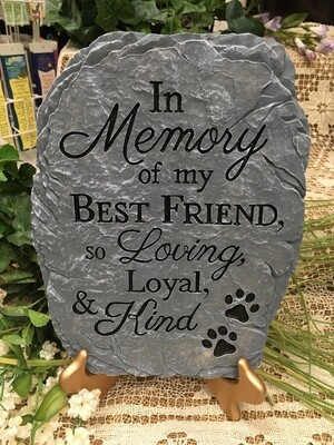 Garden Stepping Stone - Pet Sympathy - In Memory of My Best Friend, so loving loyal and kind.