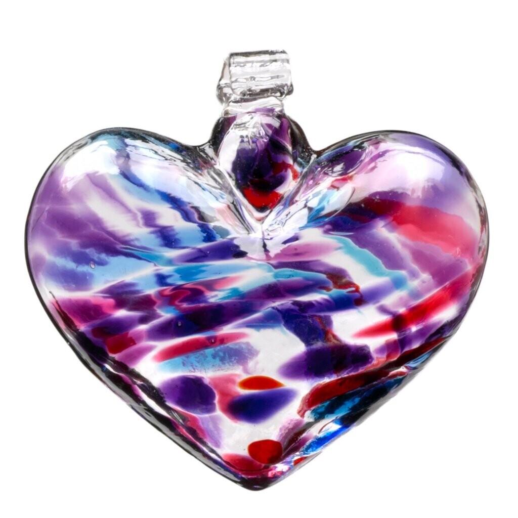 "3"" Heart - Multicolour - Berry - Canadian Blown Glass"